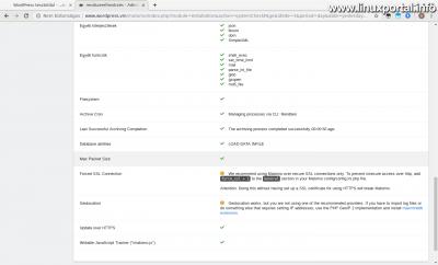 Matomo (Piwik) - Rendszerellenőrzés - max_packet_size ellenőrzése