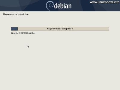 Debian 10 (Buster) minimális szerver telepítése - Alaprendszer telepítése