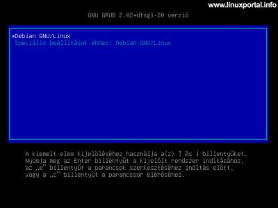 Debian 10 (Buster) minimális szerver telepítése - Rendszer indítása