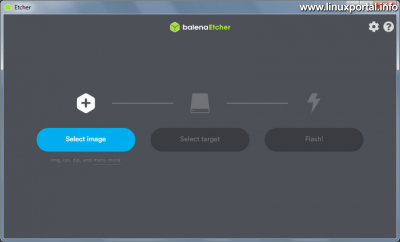 balena Etcher Windows - Képfájl kiválasztása