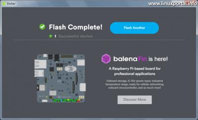 balena Etcher Windows - Sikeres művelet