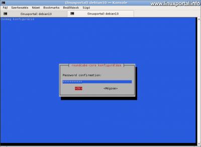 RoundCube konfigurálása - Jelszó ismétlése