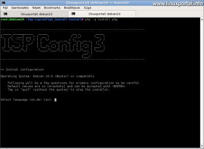ISPConfig3 telepítése