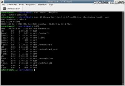 lsblk output check