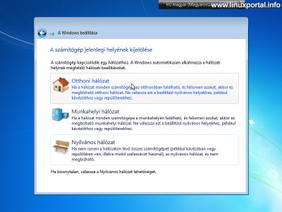 Windows beállítása - Hálózat