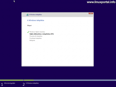 Windows telepítő - Windows telepítése