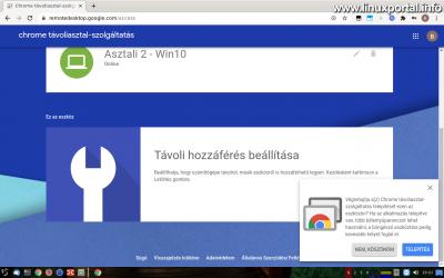 Chrome Remote Desktop - Chrome bővítmény telepítése