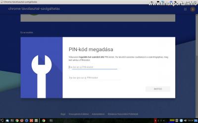 Chrome Remote Desktop - PIN-kód beállítása