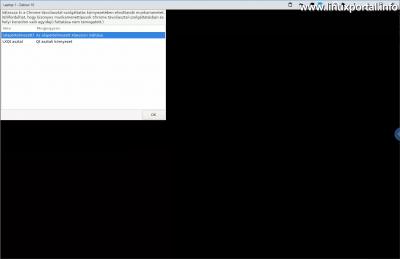 Chrome Remote Desktop - Asztali munkamenet kiválasztása