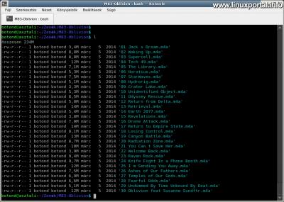Az m4a fájlformátumban lévő zeneszámok összeállítása