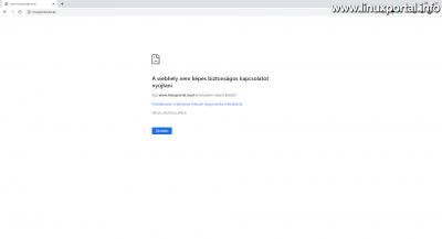 ERR_SSL_PROTOCOL_ERROR hiba a helytelen IP-cím miatt