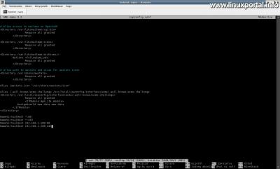 Az ispconfig.conf fájl módosítása