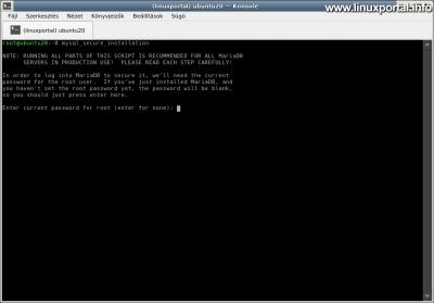 Ubuntu 20.04 LTS (Focal Fossa) LAMP Server Installation - Securing Your Database