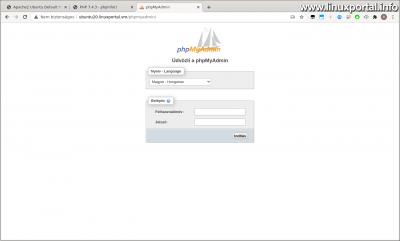 Ubuntu 20.04 LTS (Focal Fossa) LAMP server installation - phpMyAdmin login