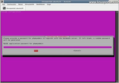 Ubuntu 20.04 LTS (Focal Fossa) LAMP server installation - phpMyAdmin installation - Control user configuration