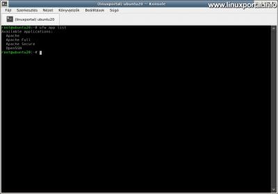 Ubuntu 20.04 LTS (Focal Fossa) LAMP Server Installation - List of UFW Firewall Application Profiles