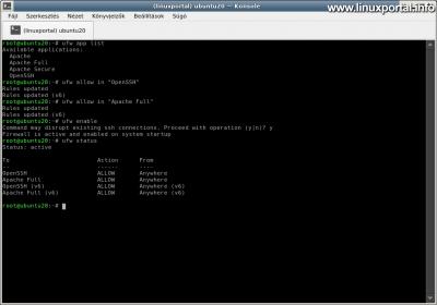 Ubuntu 20.04 LTS (Focal Fossa) LAMP Server Installation - Configuring a UFW Firewall